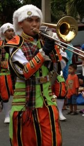 A trombone marches for the Virgin of Candelaria