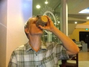 I am drinking!