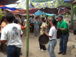 A circle dance at the healing ceremony - Lina in the center of photo!