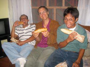 Clowning:  Bert, David and Danny