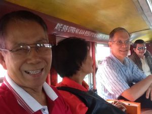 In a jeepney in Baguio: Angel & Ellen
