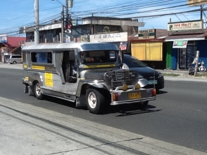 A jeepney on the Aguinaldo Highway
