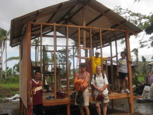 One wall on, Day 4 - Toto behind me, Ellen on the right, John from New Zealand to my right, and a Filipino friend