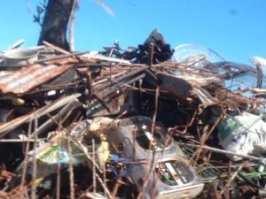 Scrap metal waiting to be hauled away - or reused.