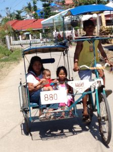 A bicycle trike on the road