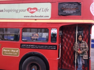 A chocolate café on a doubledecker bus!