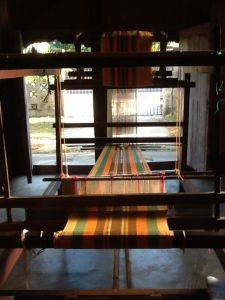 Sinamay on a loom in Arevalo, Iloilo City