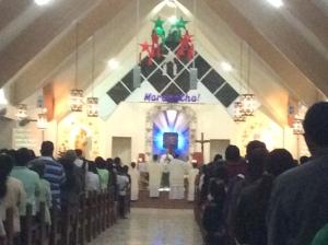 The Altar at Simbang Gabi