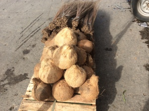 Coconuts and brooms