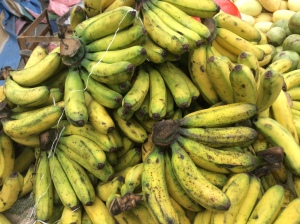 "The banana called ""lacatan"" - so many varieties here!"