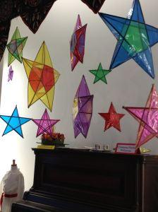 Cellophane paper parol hang at Mariposa