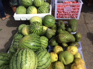 Watermelon or pakwan, guyabano, suha