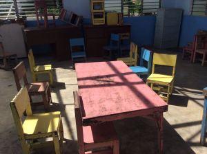 Inside the child care center: no materials