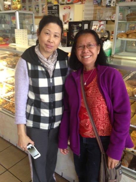 In the doughnut shop