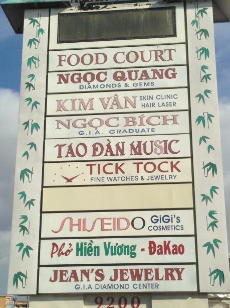 Little Saigon signs